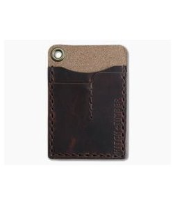 Hitch & Timber Card Caddy Autumn Harvest Leather EDC Slip Pouch Wallet & Pen Holder