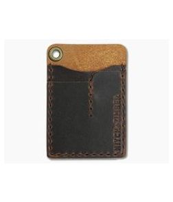 Hitch & Timber Card Caddy Brown Nut Leather EDC Slip Pouch Wallet & Pen Holder