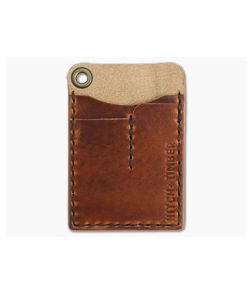 Hitch & Timber Card Caddy English Tan Leather EDC Slip Pouch Wallet & Pen Holder
