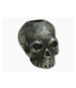 Schmuckatelli Classic Skull Bead Black Oxidized Pewter