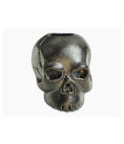 Schmuckatelli Classic Skull Bead Hematite Plated Matte Finish