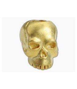 Schmuckatelli Classic Skull Bead Matte Gold Finish