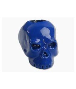 Schmuckatelli Classic Skull Bead Blue Powder Coat Finish
