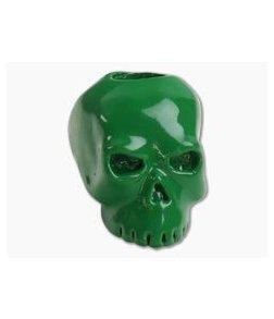 Schmuckatelli Classic Skull Bead Green Powder Coat Finish