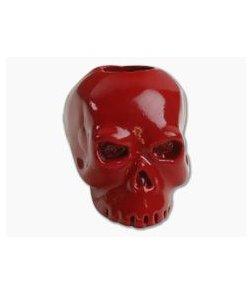 Schmuckatelli Classic Skull Bead Red Powder Coat Finish