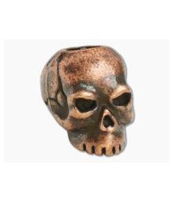 Schmuckatelli Classic Skull Bead Roman Copper Oxidized Pewter