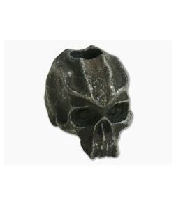 Schmuckatelli Cyber Skull Bead Black Oxidized Pewter