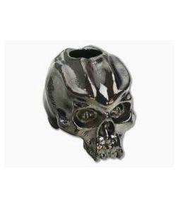 Schmuckatelli Cyber Skull Bead Hematite Plated Pewter