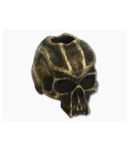 Schmuckatelli Cyber Skull Bead Roman Brass Oxidized Pewter