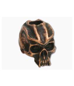Schmuckatelli Cyber Skull Bead Roman Copper Oxidized Pewter
