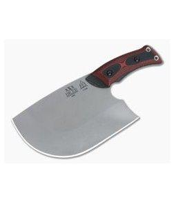 TOPS Knives XXX Dicer Tumbled 440C Red & Black G10 Kitchen Knife DCRX-01