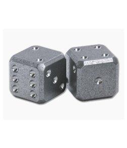 Flytanium Cuboid Large Titanium Dice Set Stonewash