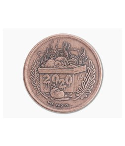 Shire Post Mint I Survived 2020 Dumpster Fire Reminder Token Coin Copper