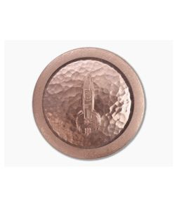 D Rocket Design Copper Worry Stone Coin 0027