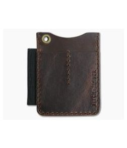 Hitch & Timber Duz All EDC Utility Wallet Brown Nut Leather