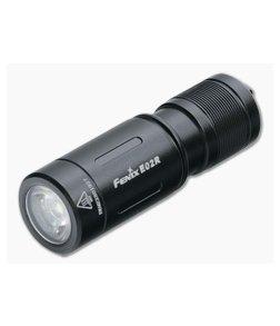 Fenix E02R Black 200 Lumen USB Rechargeable Keychain Flashlight