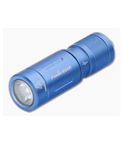 Fenix E02R Blue 200 Lumen USB Rechargeable Keychain Flashlight