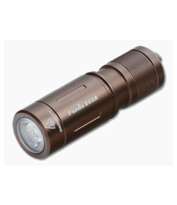 Fenix E02R Brown 200 Lumen USB Rechargeable Keychain Flashlight