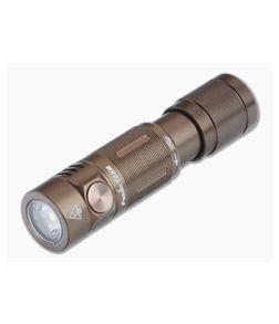 Fenix E05R Brown 400 Lumen Rechargeable LED Mini Flashlight E05RG2BR