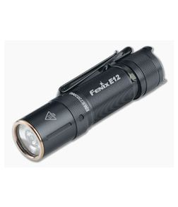 Fenix E12 V2.0 Black 160 Lumen AA LED EDC Flashlight E12V2BK