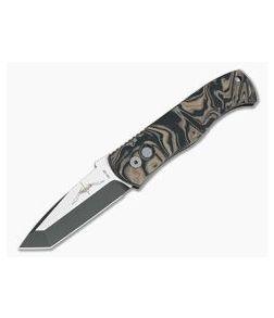 Protech Emerson CQC-7 Auto Two-Tone DLC Tanto Camo Burl G10 Top Automatic Knife E7T37