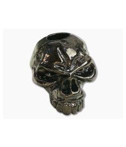 Schmuckatelli Emerson Skull Bead Hematite Plated Pewter