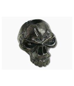 Schmuckatelli Emerson Skull Bead Matte Hematite Plated Pewter