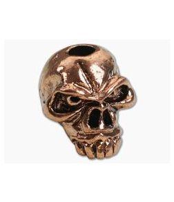 Schmuckatelli Jumbo Emerson Skull Bead Antique Copper Plated Pewter
