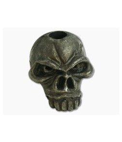 Schmuckatelli Jumbo Emerson Skull Bead Black Oxidized Pewter