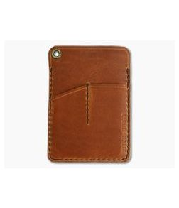 Hitch & Timber Engineer Caddy English Tan Leather EDC Utility Wallet