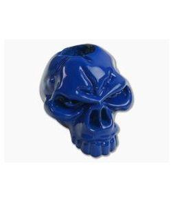 Schmuckatelli Emerson Skull Bead Powder Coat Blue