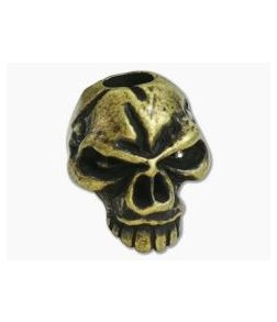 Schmuckatelli Emerson Skull Bead Roman Brass Oxidized Pewter