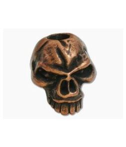 Schmuckatelli Emerson Skull Bead Roman Copper Oxidized Pewter