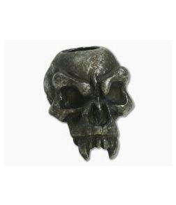 Schmuckatelli Fang Skull Bead Black Oxidized Pewter