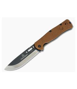 TOPS Knives Fieldcraft Folder Large Liner Lock Tan Micarta FCF-01