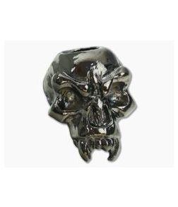 Schmuckatelli Fang Skull Bead Hematite Plated Pewter
