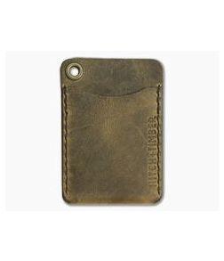 Hitch & Timber Flat Jacket Crazy Horse Leather Minimalist Wallet