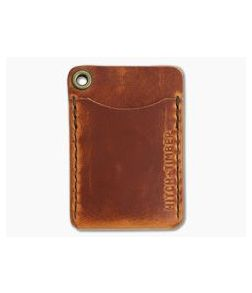 Hitch & Timber Flat Jacket English Tan Leather Minimalist Wallet