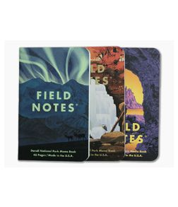 Field Notes National Parks | Denali, Cuyahoga Valley, Olympic Limited Graph Paper Memo Notebook 3 Pack FNC-43E