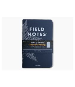 Field Notes Snowy Evening Winter 2020 Quarterly Edition Limited Dot Grid Paper Memo Notebook 3 Pack FNC-49