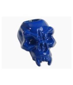 Schmuckatelli Fang Skull Bead Blue Powder Coat Pewter