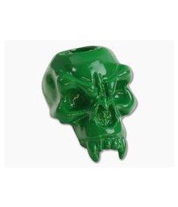 Schmuckatelli Fang Skull Bead Green Powder Coat Pewter
