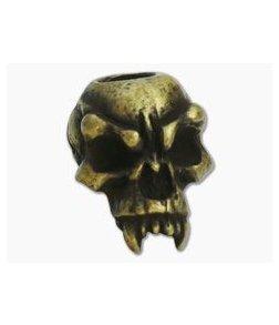 Schmuckatelli Fang Skull Bead Roman Brass Oxidized Pewter
