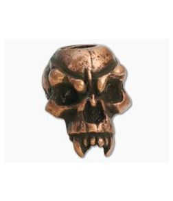 Schmuckatelli Fang Skull Bead Roman Copper Oxidized Pewter