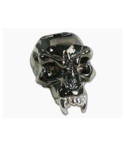 Schmuckatelli Fang Skull Bead Split Finish Hematite & Rhodium Plated Pewter
