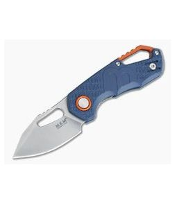 MKM Mikita Voxnaes Isonzo Clip Point Stonewashed Plain N690Co Blue FRN FX03-3PBL