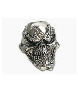 Schmuckatelli Grins Skull Bead Antique Rhodium Plated Pewter