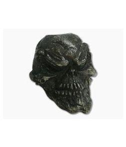 Schmuckatelli Grins Skull Bead Black Oxidized Pewter
