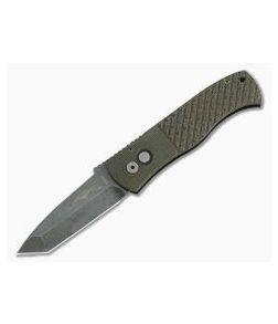 Protech Emerson GPK Exclusive CQC-7 Acid Wash Tanto Point Textured Micarta Top Automatic Knife GP-CQC7-T2