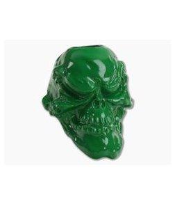 Schmuckatelli Grins Skull Bead Powder Coat Green